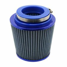"3"" Blue Car SUV Auto Cone Cold Air Intake Induction Breather Filter Cleaner"