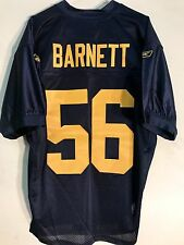 Reebok Authentic NFL Jersey Packers Nick Barnett Navy Throwback sz 46