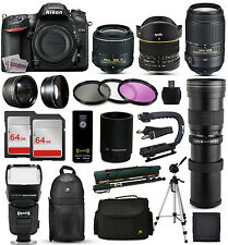Nikon D7200 DSLR SLR Camera + 18-55mm VR II + 55-300mm VR + 420-800mm + More