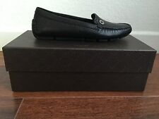 Brand New Gucci Leather Driving Moccasin Loafer Sz 39 US 9