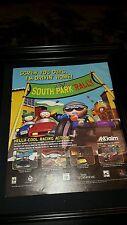 South Park Rare Original Rally Game Promo Ad Framed!
