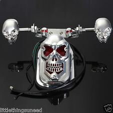Motorcycle,skull,stop,Taillight,&,indicators,chop,hog,bobber,trike,project
