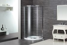 "ASTON GLOBAL 40"" x 40"" x 75"" Semi-Frameless Corner Round Shower Enclosure +Base"