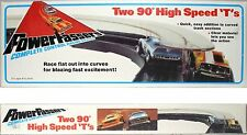 1975 Lionel TCR Slot Car Power Passer 90 DEGREE Curve Track HIGH SPEED T's