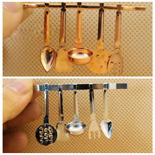 Miniature Kitchen Funiture Copper Cooking Tool For 1/12 Scale Dollhouse Baby Toy