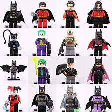 16pcs SET Batman Robin Joker Minifigures Custom Lego Super Hero DC Universe