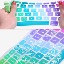 "UK / EU Rainbow Silicone Keyboard Cover Skin  for MacBook Pro Air 13"" 15"" 17"""