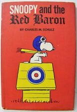 SNOOPY AND THE RED BARON PEANUTS BOOK 1967 4TH PRINTING w/ DUST JACKET COVER