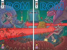 IDW ROM SPACEKNIGHT #1 2016 SDCC PX VARIANT COVER A & B