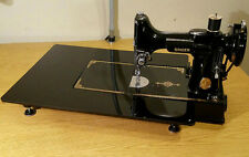 """FEATHERWEIGHT EXTENSION ARM TABLE 14"""" X 18"""" - Hi GLOSS BLACK ACRYLIC - FREE SHIP"""