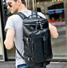 Men's Leather Sporting Backpacks Gym Bags Military Outdoor Knapsack Rucksack New