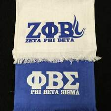 Zeta Phi Beta WHITE Hand Towels