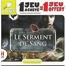 18417 // ENIGMES & OBJETS CACHES LE SERMENT DE SANG POUR PC NEUF