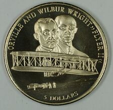 2000 Republic of Liberia Orville and Wilbur Wright 5 Dollar Coin as Issued