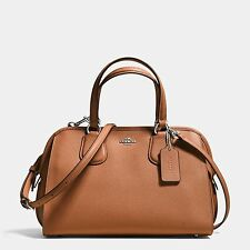 Coach Nolita Satchel in Crossgrain Leather Saddle Brown - F37138