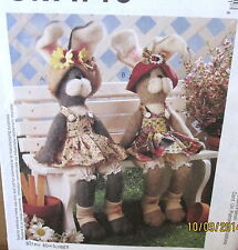 "Large Bunny Rabbit Greeter Pattern by Straw Stockings 18"" stuffed animal Easter"