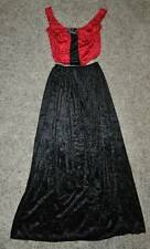 New-Adult Womens Black & Red Elegant Vampiress Vampire Halloween Costume-sz 8/10