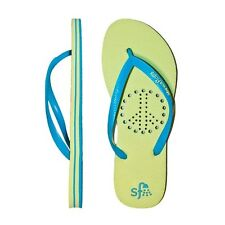 Showaflops Girl's Antimicrobial Shower & Water Sandals - Peace Sign - Size 7/8