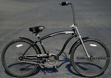 "Micargi Rover GT for men's 26"" 1-speed Beach Cruiser Bike Chopper Fork mblack"