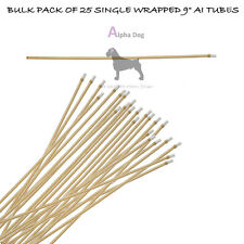 "9"" Flex Tip BULK PACK 25 Single Packed Canine ArtificiaI Insemination AI Tubes"