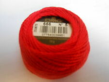 "DMC Perle 5 Cotton Ball Colour Red ""666"""