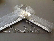 Set of 2 Personalized Bride and Groom Custom Wire Wedding Hangers-Great Gift
