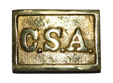 American Civil War Confederate Officers CSA Lettered Belt Buckle 6.5cms x 5cms