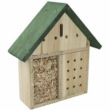 WOODEN GARDEN INSECT BUG HOUSE HANGING HOTEL HOME BEES LADYBIRD NEST BOX 955004
