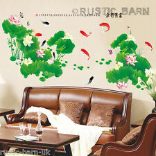 Home Decor Vinyl Wall Sticker Art Decal Japanese Chinese Koi Carp Pond UK
