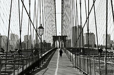 Framed Print - Brooklyn Bridge Crossing New York City USA (Picture Poster Art)
