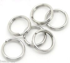 "BD   100 Silver Tone Stainless Steel Split Rings 7mm(1/4"")"