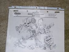 1964 Clinton D25-1000 Chain Saw Basic Parts List  MORE CLINTON ITEMS IN STORE U