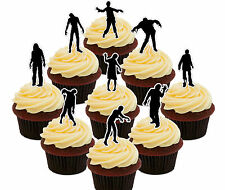 Zombie Party 36 Halloween Edible Cup Cake Toppers, Standup Fairy Bun Decorations
