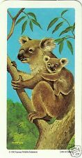 RED ROSE TEA CARD, SERIES: ANIMALS AND THEIR YOUNG, KOALA