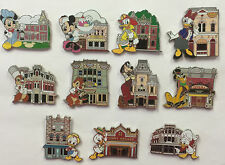 Disneyland Main Street Magic Mystery 11 Disney pin Set with 3 Chasers LE 400