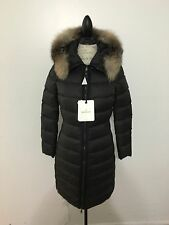 Women's MONCLER Fabrefox Down Coat, Size 0, X-Small, Black