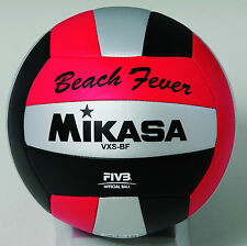Mikasa VXS-BF Outdoor Volleyball (Red/Black/Silver)
