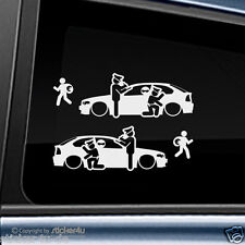 (1652) 2x Fun Sticker Aufkleber / Catch Real Criminals BMW E46 Compact M3