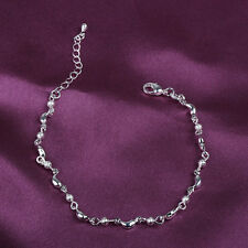 Fashion Silver plated Cute Small Drops Beads Splice Chain Bracelet Jewelry