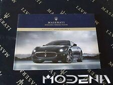 Scheda Libro Guida Manuale Proprietari Maserati Granturismo S