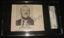 Johnny Murphy 1969 Mets GM & Jimmy Cannon Boxing HOF Signed SGC Certified Auto