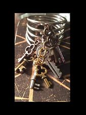 Steampunk Skeleton Keys Dangle Charmed Ring