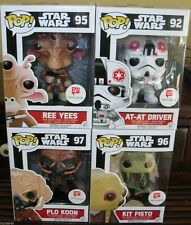Funko Pop STAR WARS WALGREENS EXCLUSIVE SET Fisto Ree Yees AT-AT Driver Plo Koon