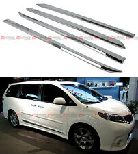 FOR:2011-2016 TOYOTA SIENNA LE XLE POLISHED ABS SIDE BODY MOLDING MOULDING TRIM