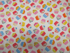 Cupcakes Polycotton Prints Craft / Dress Fabric 112cm Wide SOLD PER METRE