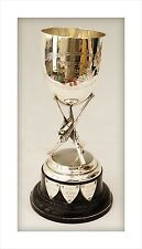 Sterling Silver Military Shooting Trophy Goblet. 5th Bn Royal Tank Corps 1922.