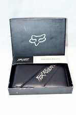 Fox Racing Genuine Leather Wallet style PLATINUM INT'L ONLY with Gift Box