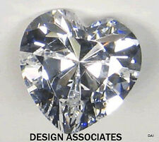 WHITE TOPAZ  SPARKLING 12 MM HEART CUT  ALL NATURAL AAA