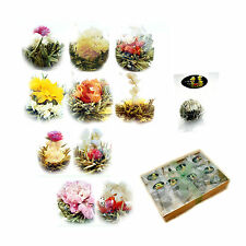 Flowering Tea 10 Blooming Jasmine Chinese Green TEA balls in GIFT box UK Seller