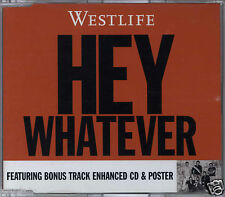 WESTLIFE - HEY WHATEVER / SINGING FOREVER 2003 EU ENHANCED CD SINGLE W/POSTER
